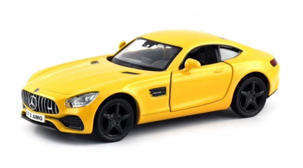 Autíčko RMZ 1:32 - Mercedes Benz AMG GT S - žlutá barva Daffi