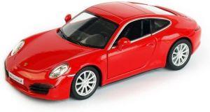 Autíčko RMZ 1:32 - Porsche 911 Carrera S - červená barva Daffi