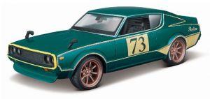 auto Maisto  1:24 Design - Nissan Skyline 2000 GT-R 1973 -  zelená