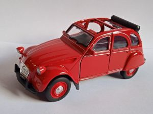 auto Welly -   Citroën 2CV  - červená  barva