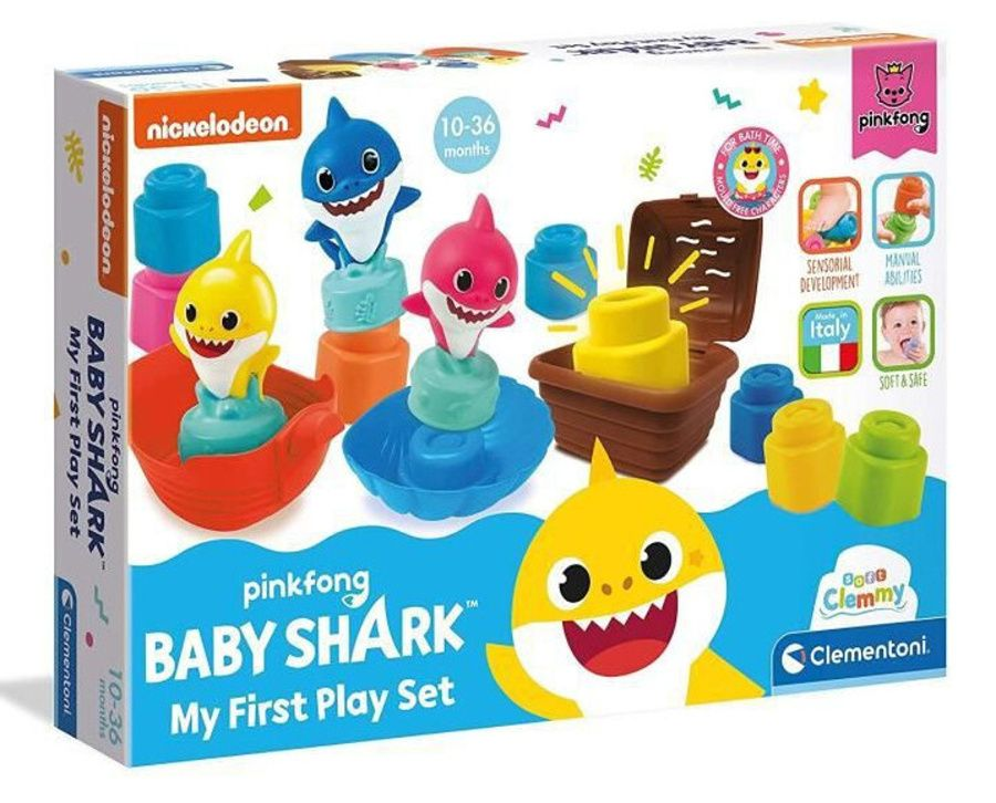 Clemmy baby Baby Shark - My first play set Clementoni