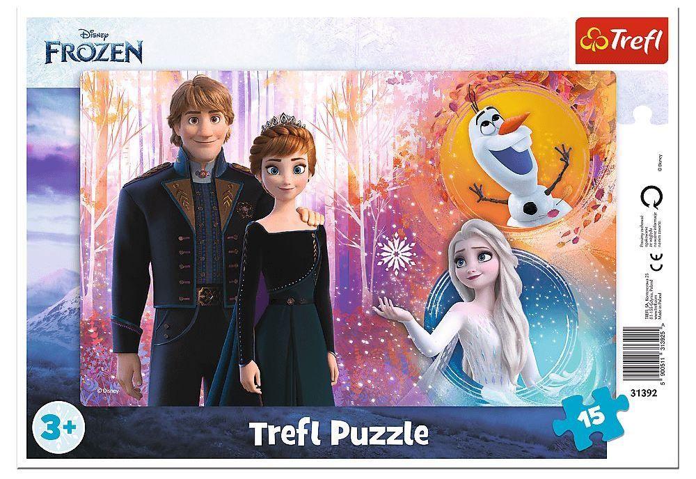Deskové puzzle Trefl 15 dílků - 31392 Frozen II
