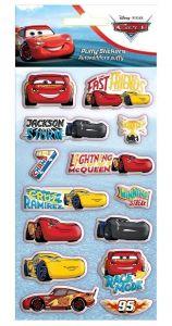 Diakakis - sada  plastických ( puffy ) samolepek - CARS