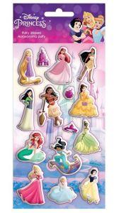 Diakakis - sada  plastických ( puffy ) samolepek - Princezny