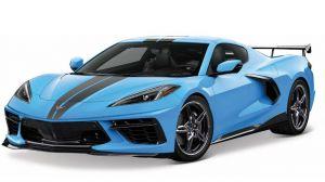 Maisto 1:18   2020  Chevrolet Corvette  Stingray Coupe (HIGH WING)  - modrá barva