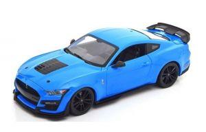 Maisto 1:18   2020  Mustang Shelby GT 500 - modrá barva