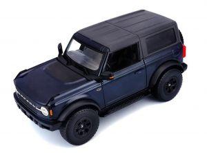 Maisto 1:18   2021 Ford Bronco Wildtrack  - tm. modrá barva