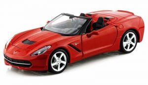 Maisto  1:24 Corvette Stingray 2014 - červená  barva