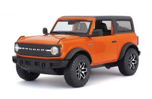 Maisto  1:24  Ford Bronco Badlands 2021   - oranžová  barva
