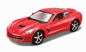 Maisto 21001 PR  Chevrolet  Corvette Stingray 2014 - červená  barva