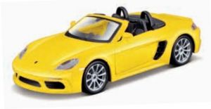 Maisto 21001 PR  Porsche  718 Boxter  cabrio - žlutá  barva
