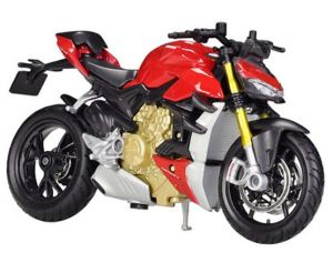 Maisto  motorka na stojánku - DUCATI Super Naked V4 S   1:18  červená
