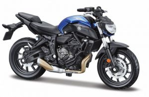 Maisto  motorka na stojánku se zn. YAMAHA - Yamaha  2018 MT-07  1:18  modrá