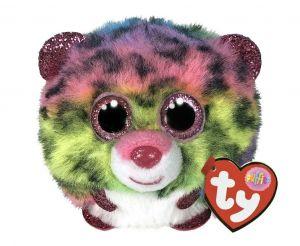 Plyšák TY - Puffies - plyšová zvířátka ve tvaru kuličky  - barevný leopard Dotty 42519
