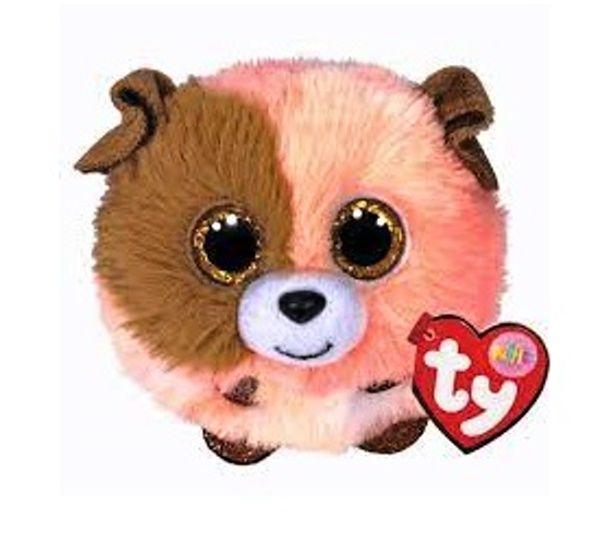 Plyšák TY - Puffies - plyšová zvířátka ve tvaru kuličky - oranžový pejsek Mandarin 42523