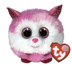 Plyšák TY - Puffies - plyšová zvířátka ve tvaru kuličky  - růžový husky Princess  42522
