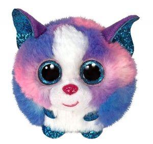 Plyšák TY - Puffies - plyšová zvířátka ve tvaru kuličky  - vícebarevný  husky Cleo  42521