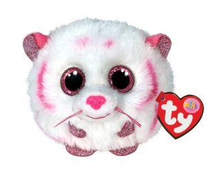 Plyšák TY - Puffies - plyšová zvířátka ve tvaru kuličky  - bílo růžový tygr  Tabor  42524