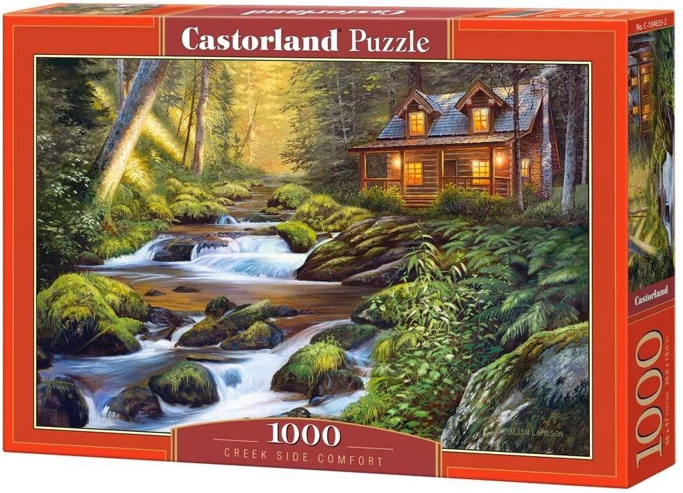 Puzzle Castorland 1000 dílků - Chatka u potoka 104635
