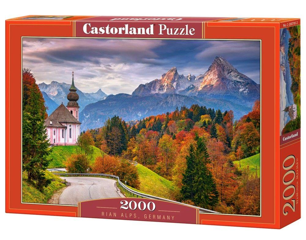Puzzle Castorland 2000 dílků - Podzim v Bavorských Alpách 200795