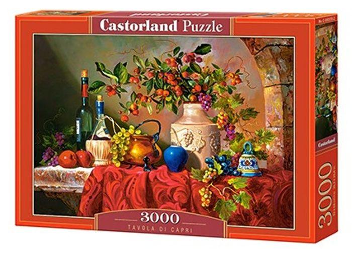 Puzzle Castorland 3000 dílků - Tavola di Capri - Zátiší s vínem 300570