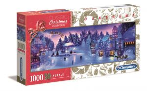 Puzzle Clementoni 1000 dílků  panorama - Sváteční kolekce B   39582
