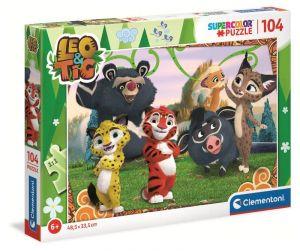 Puzzle Clementoni  - 104 dílků  - Leo & Tig  27546