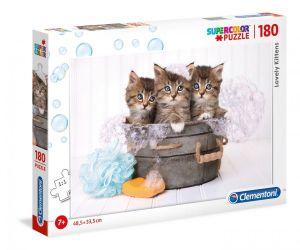Puzzle Clementoni 180 dílků  - Koťátka 29109