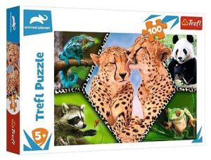 Puzzle Trefl 100 dílků - Krása přírody - Animal planet  16424