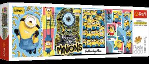 Puzzle TREFL  1000 dílků - panorama - Mimoni 29049
