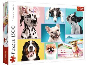 Puzzle Trefl 1500 dílků - Sladcí pejsci  26186