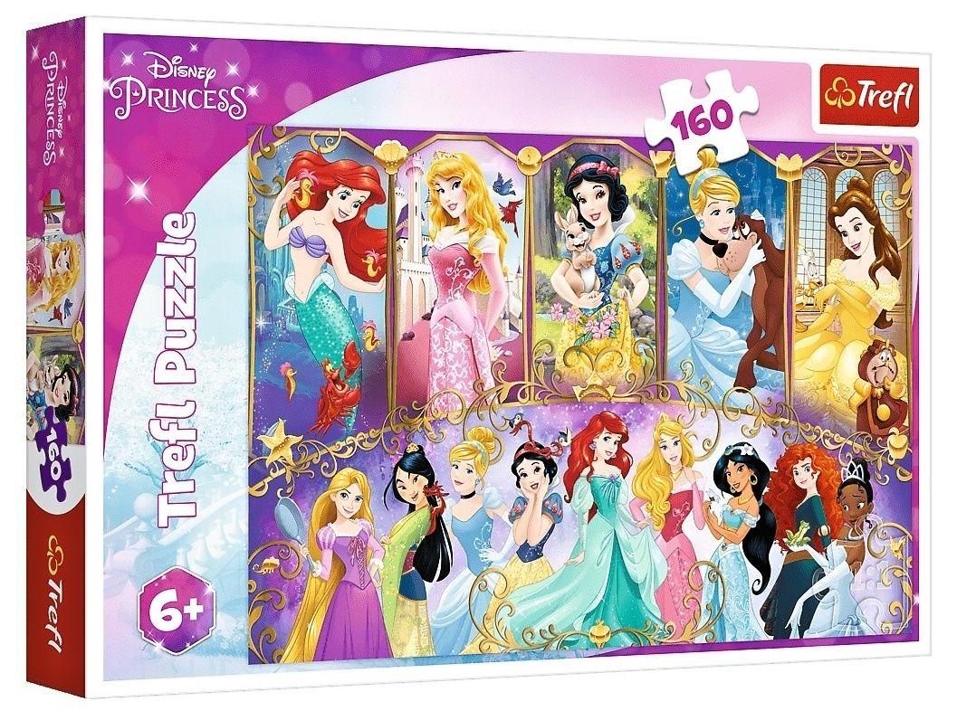 Puzzle Trefl 160 dílků - Princezny 15407