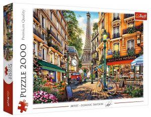 Puzzle Trefl 2000 dílků - Dominic Davison - Odpoledne v Paříži  27121