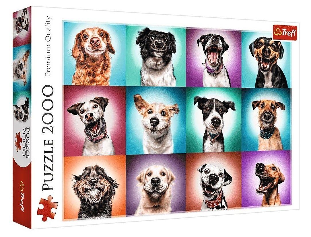 Puzzle Trefl 2000 dílků - Psí portréty 27119