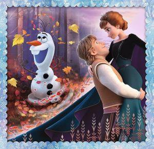 Puzzle Trefl 3v1 - 20 , 36 a 50 dílků - Frozen - Ledové království - 34853