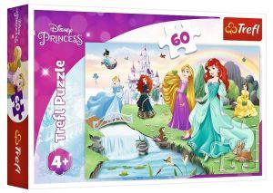 Puzzle  Trefl  - 60 dílků  - Princezny  17361