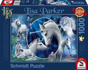 Schmidt puzzle  1000 dílků - Lisa Parker - Krásní jednorožci  96682