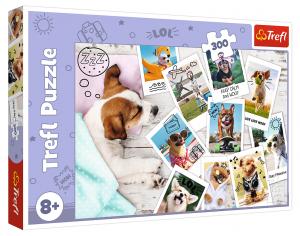 TREFL Puzzle  300 dílků - Pejsci - snímky z výletů  23003