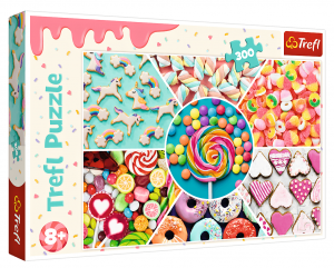 TREFL Puzzle  300 dílků - Sladkosti  23004
