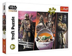 TREFL Puzzle  300 dílků - Star Wars : Baby  Yoda 23002