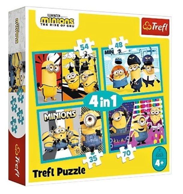 Trefl Puzzle 34339 - Mimoni 4v1 35 48 54 70 dílků