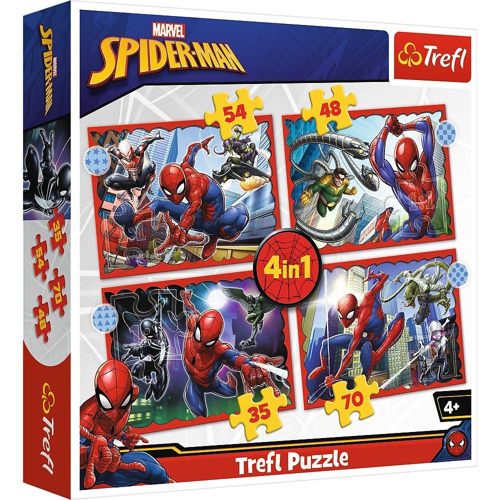 Trefl Puzzle 34384 - Spiderman 4v1 35 48 54 70 dílků