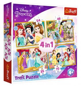 Trefl Puzzle 34385 - Princezny      4v1 35 48 54 70 dílků