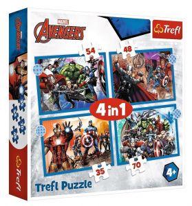 Trefl Puzzle 34386 -  Avengers     4v1 35 48 54 70 dílků