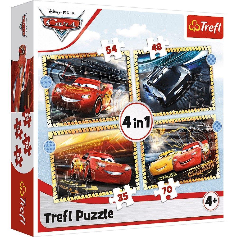 Trefl Puzzle 34386 - Cars 3 4v1 35 48 54 70 dílků