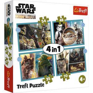 Trefl Puzzle 34397 - Star Wars    4v1 35 48 54 70 dílků