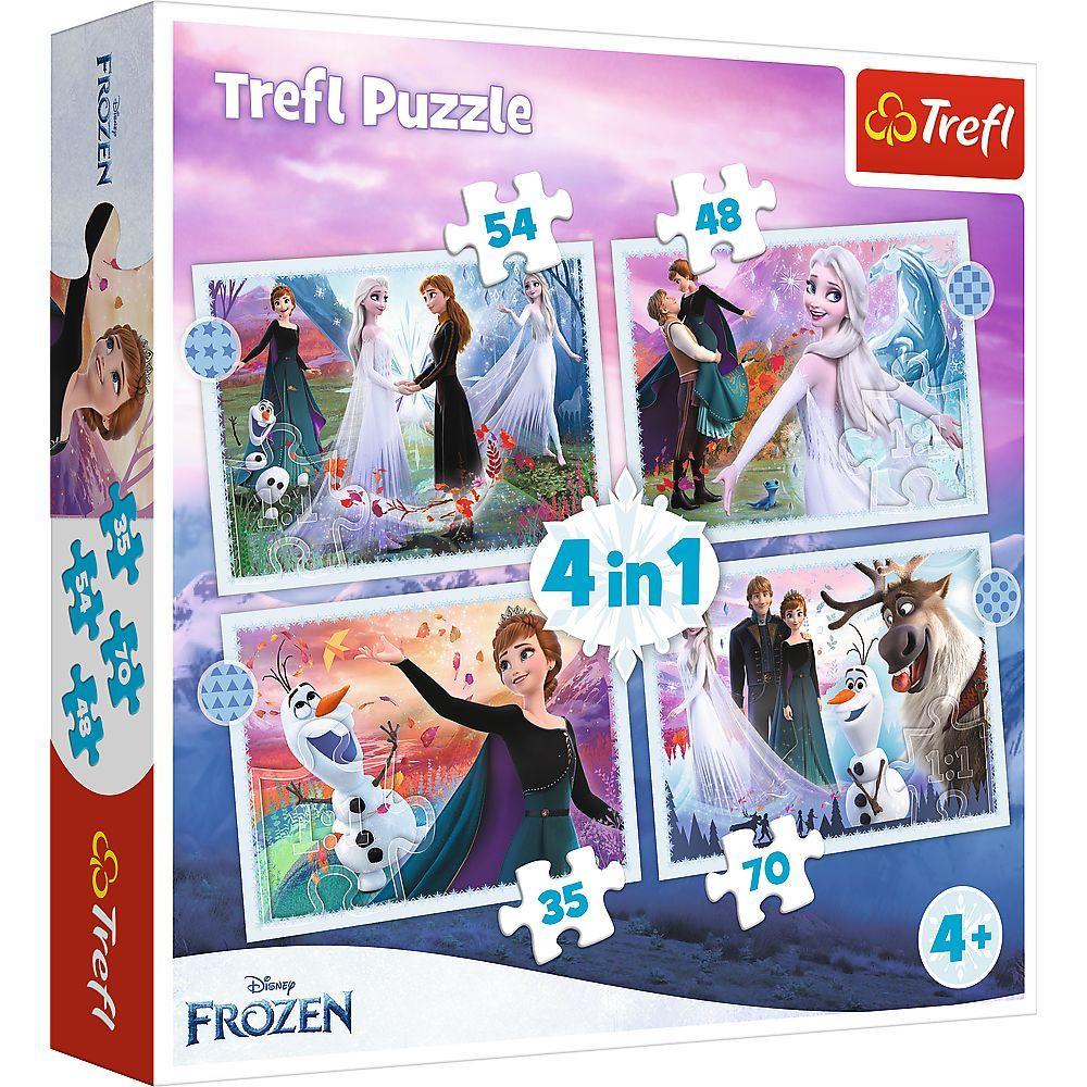 Trefl Puzzle 34398 - Frozen II 4v1 35 48 54 70 dílků