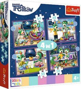 Trefl Puzzle 34399 - Treflíci      4v1 35 48 54 70 dílků