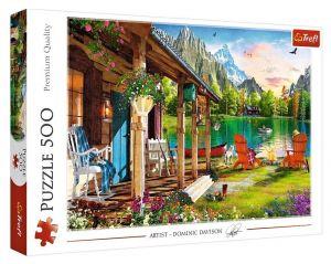 TREFL Puzzle  500 dílků -  Dominic Davison - Domek v horách   37408