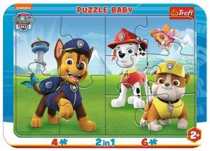 Trefl Puzzle  Baby - rámkové  10 dílků - Paw Patrol 80022